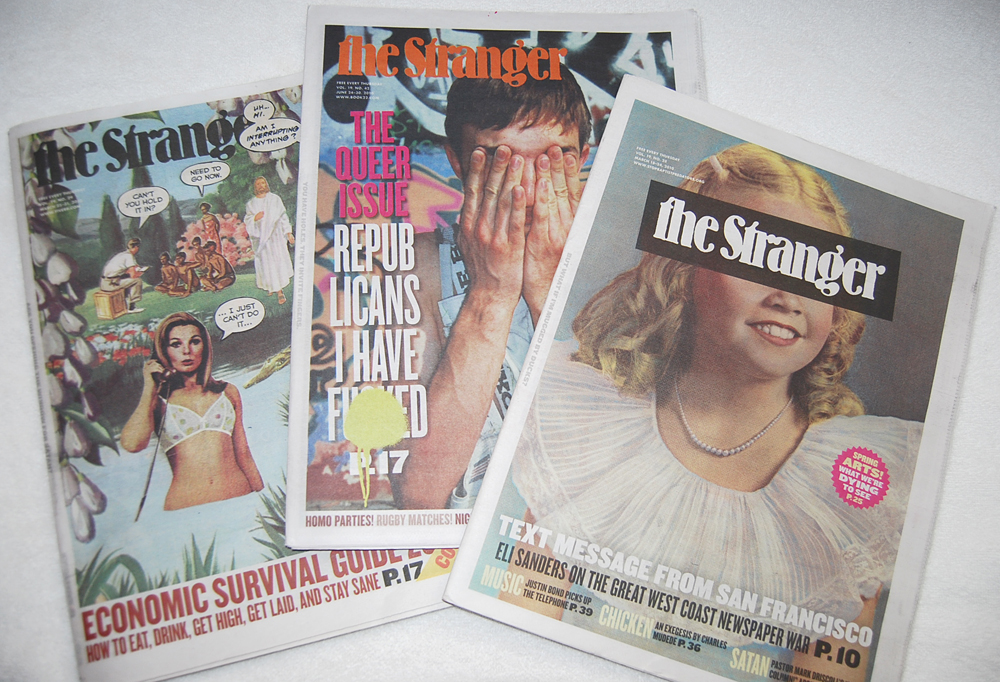 Covers from  The Stranger, Seattle's alternative weekly newspaper