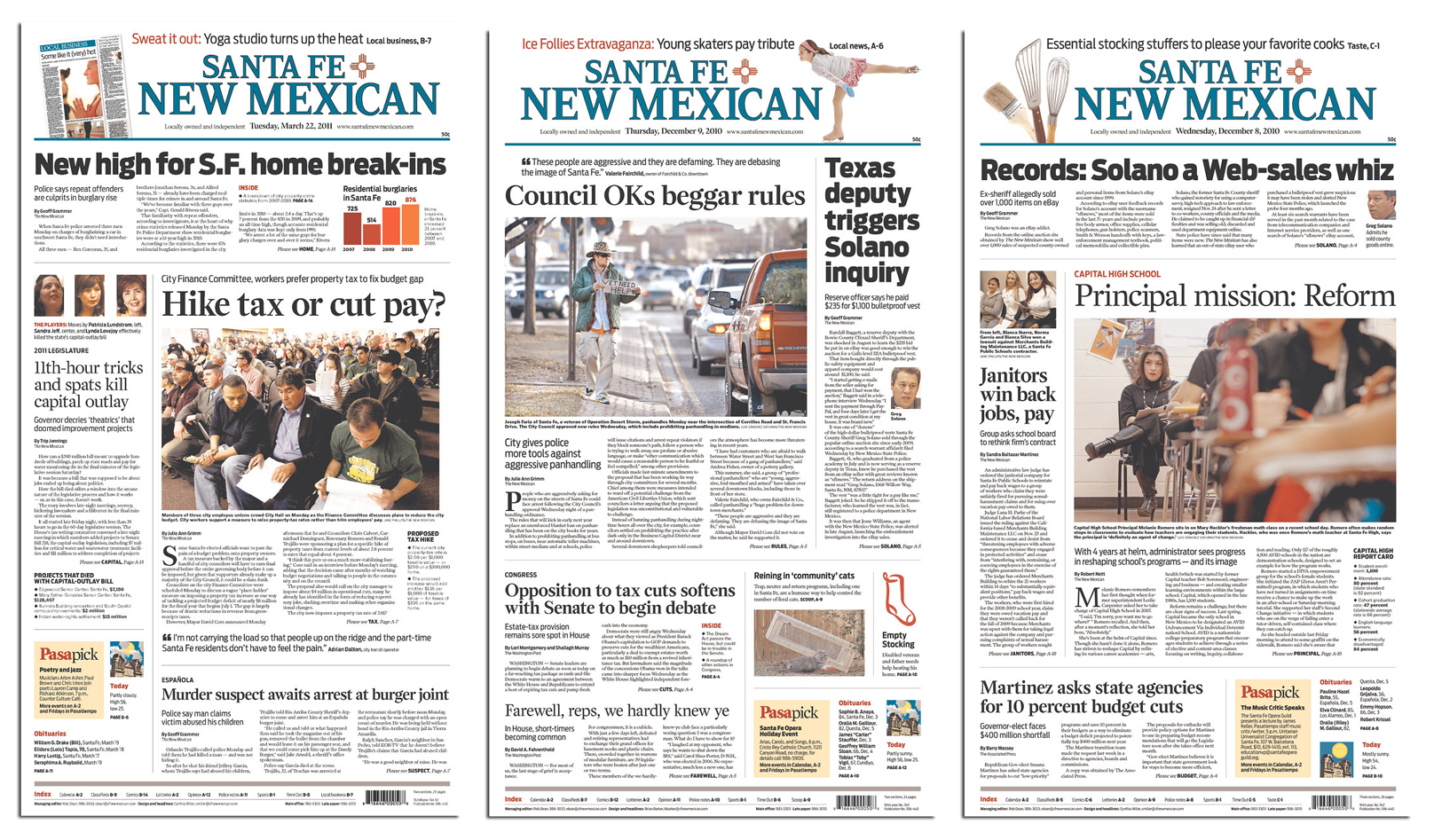 newspaper redesign  santa fe new mexican