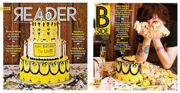 Chicago Reader redesign 40th anniversary cover back cover