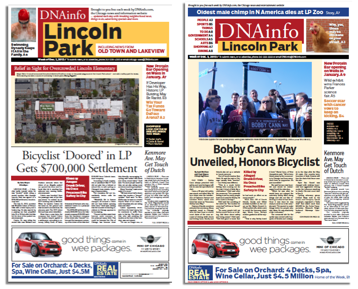 DNAinfo Chicago weekly newspaper for Lincoln Park