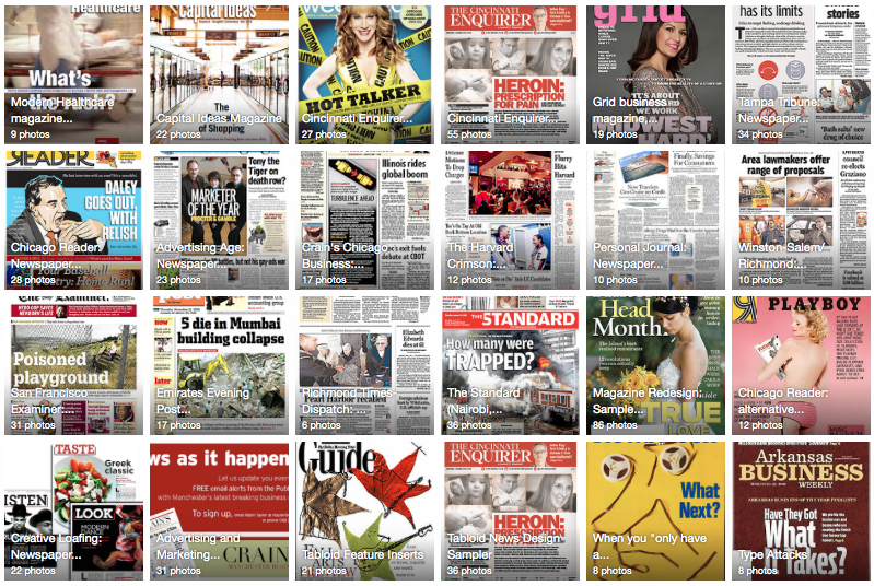 Magazine and newspaper redesign resources. Start here.