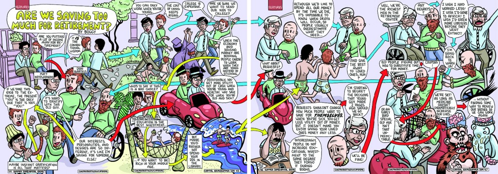 Graphic novel approach to economics story, Capital Ideas magazine