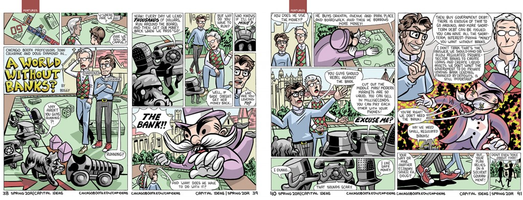 graphic novel approach to storytelling, Capital Ideas magazine, Spring 2014