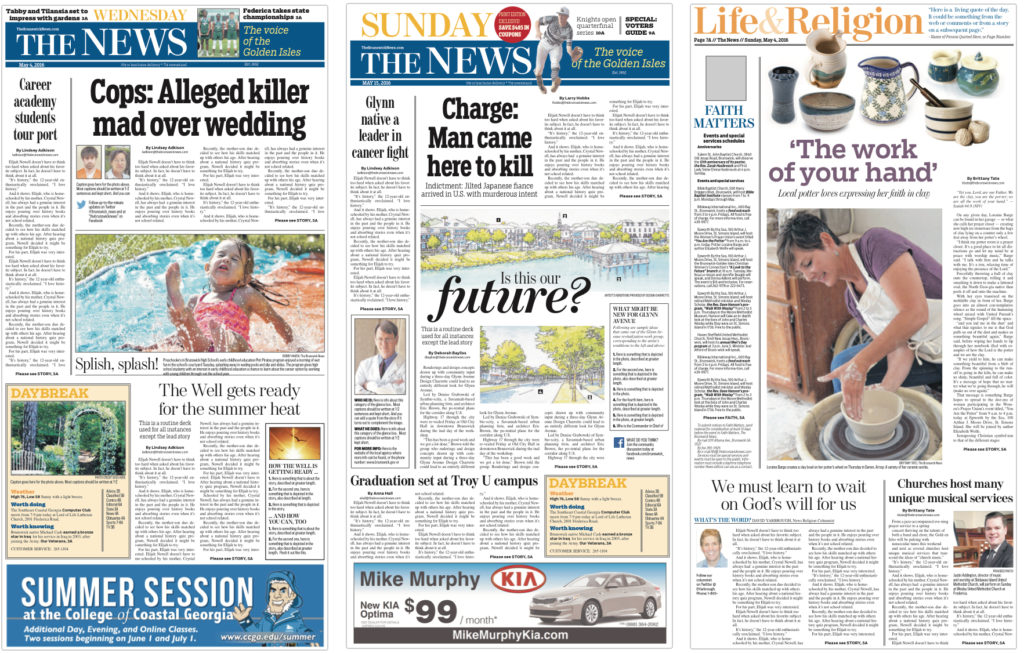 Inside A Newspaper Redesign Slimming Down Shaping Up Design With