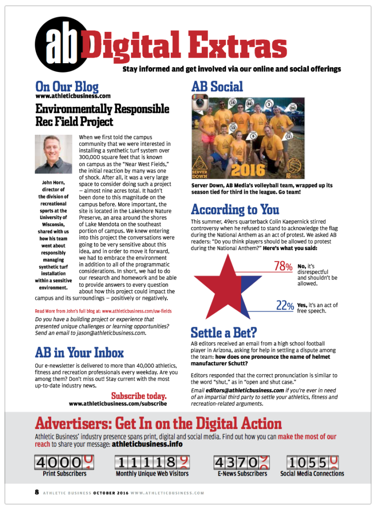Athletic Business magazine, AFTER redesign
