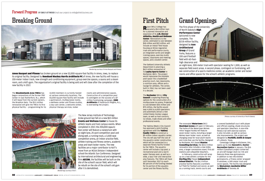 Athletic Business magazine redesign, AFTER